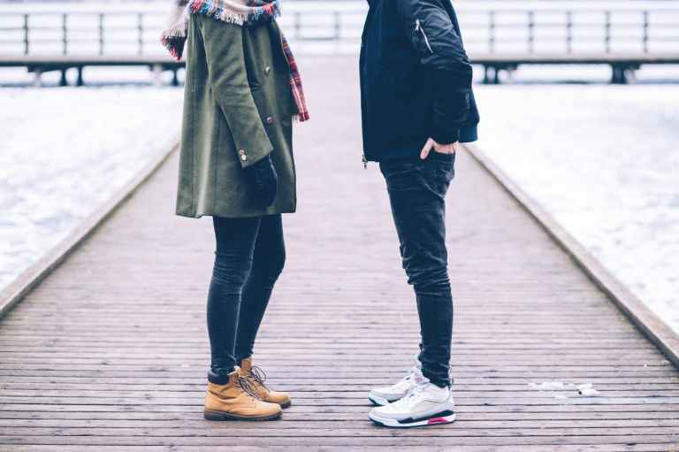 adult couple dock fashion