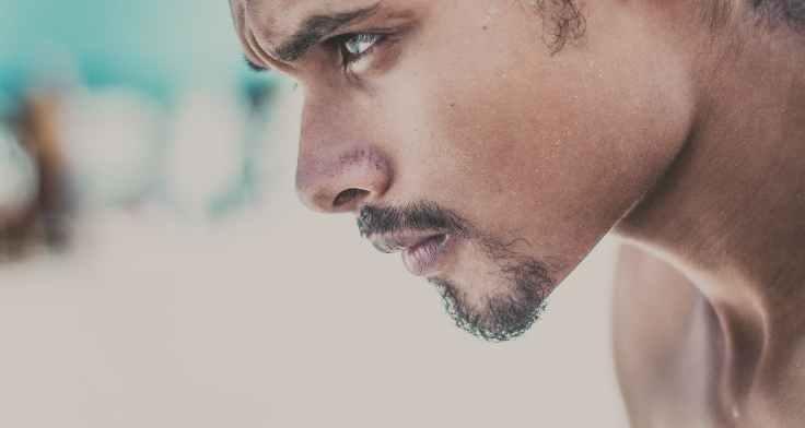 beard blur close up face